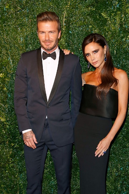 David Beckham with his wife Victoria